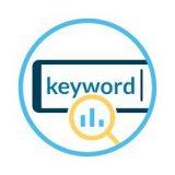検索キーワードの検索ボリュームと購入率。